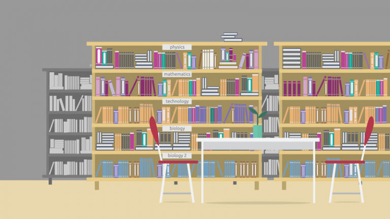 Library - Illustration Background